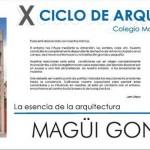 Conferencia en el X Ciclo de Arquitectura del Colegio Mayor Hernando Colón